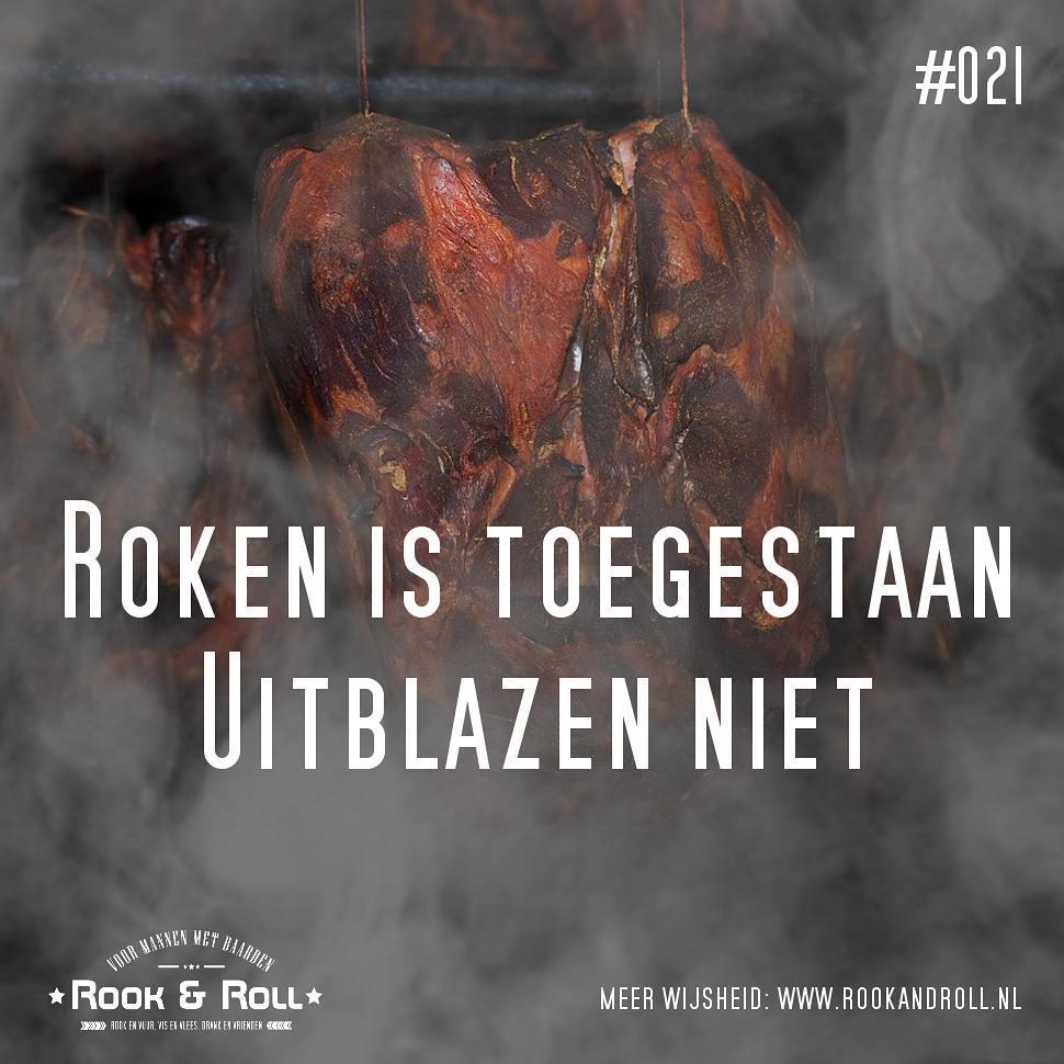 Wijsheid #21: Roken is toegestaan. Uitblazen niet