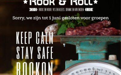 Rook & Roll voorlopig dicht i.v.m. Corona